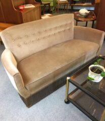 Vintage sofa i velour SOLGT!