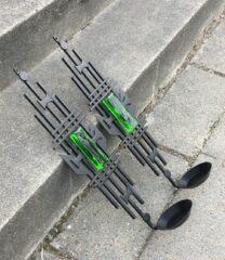 Vægstager med grønt glas