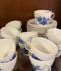 Blå Blomst kop/underkop