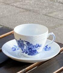 Blå Blomst kaffekop duo